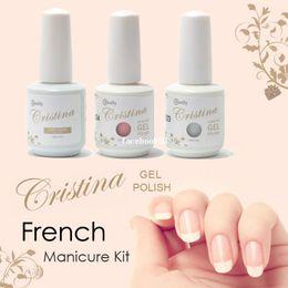 Wholesale Cristina UV Gel Nail Polish French Manicure Kit drop shipping