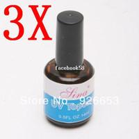Nail Gel art glazes - Hotsale ml UV Acrylic Women Lady Nail Art Gel Polish Topcoat Top Coat Base Gloss Seal Glaze Faster Primer