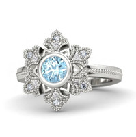 Wholesale Frozen Elsa Snowflake Sterling Silver Ring Women s Jewelry Wedding Ring Let It Go Free With Gift Box