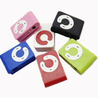 10pcs Mirror clip MP3 Player Card MP3 w SD TF Slot 6 colors ...