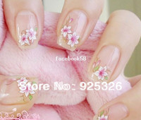 Wholesale 10 Sheet Mix Flower D Nail Art Sticker Flowers Decal Water Temporary Tattoos Watermark