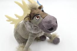 Wholesale 7 Inches cm Frozen Sven Plush Toys Cartoon Movie Reindeer Stuffed Animals Princess Toy Lovely Dolls Brand New HOT