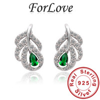 Dangle & Chandelier red/white/green Women's ForLove Simulated Diamond green multi colors Real Sterling Silver Geninue 925 zircon brincos dangle drop Earring for women Jewelry e497