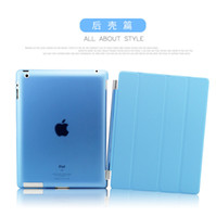 Wholesale AAA Quality Fold Magnetic Smart Case Cover With Sleep Wake Up PU PV For ipad air ipad mini2