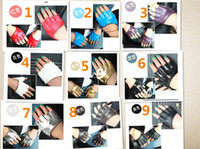 Wholesale Fashion PU Half Finger Lady Leather Lady s Fingerless Driving Show Jazz Gloves for Women Men pairs