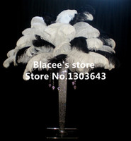 Wholesale prices quot quot inches length black or white ostrich feathers for wedding decor or table decor