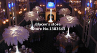 Wholesale prices quot quot inches length ostrich feathers for wedding decor or table decor Pure white