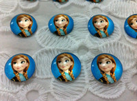 Wholesale in stock frozen necklace Elsa Anna princess necklace diy accessories Photo Round Glass Cabochon Beads Image Glass Diamonds pendant design