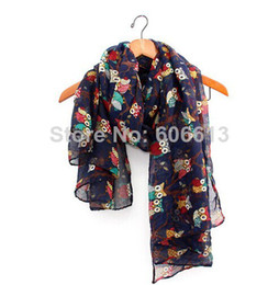 Owl Print Scarf Cute Big Eye Bird Celebrity Fashion Ladies New Scarves Shawl 12pcs lot Free shipping