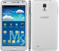 Wholesale 5 Inch Note N9000 N9000W MTK6572 Dual Core dual camera dual sim Unlocked G Smartphone mobile MB RAM GB ROM