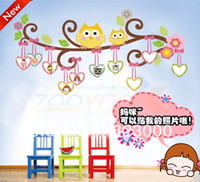 Graphic vinyl PVC Animal Cute animal nursery wall stickers butterfly trees decorated baby room bedroom background wall photo wall sticker