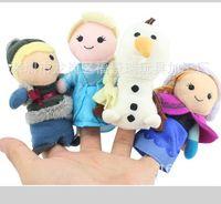 Wholesale 2014 Novelty Movie Cartoon Frozen Snow Plush Stuffed Doll Finger Toys