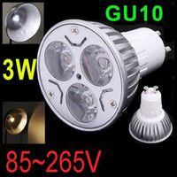 Wholesale CREE W x1W GU10 MR16 E27 GU5 LED Spot Light Bulb Lamp GU Spotlight V V Downlight Ceiling Home Room Lighting CE