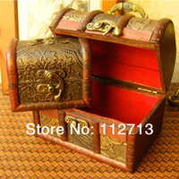 Wood Sundries Eco Friendly [ pengmall222 ]2014 New arrival! Retro style Straw plaiting shape 2 size wood storage box case for coins wedding packaging free shipping