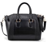 Wholesale Fashion Women Crocodile Pattern Tote Bags Removable Strap Leather Shoulder Bags Top Zipper Closure Handbags