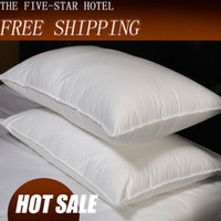 Wholesale Pillow Throw pillows Feather Silk light Pillow Zero Pressure Memory Pillow Neck Health Blue textile bedding