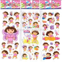 Wholesale Dora the Explorer stickers for children Girl Stickers classic toys D cartoon kids stickers party favors