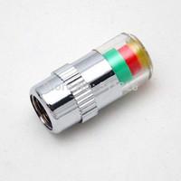 Wholesale 4PCS Car Auto Tire Pressure Monitor Valve Stem Caps Sensor Indicator Alert