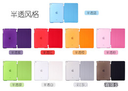 Wholesale Wholesales Fold Thin Magnetic Smart Case Cover Back Case With Sleep Wake Up PU PV For ipad air ipad mini2 ipad