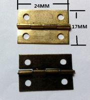 Wholesale pengmall222 Small hinge an inch hinge tin gift box packing metal hinge MM flat