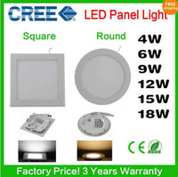No 110-240V 3528 LED LIGHT 5pcs Free shipping 4W 6W 9W 12W 15W 18W CREE LED Recessed Ceiling Panel Down Lights Bulb Lamp Warm Cool White