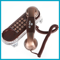 Wholesale Delicate Classic Wall Land Line Telephone Home Phone With Simple Design and Basic Functions