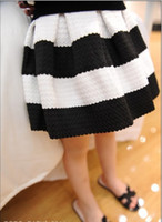 summer wear - Fashion New Striped girl Skirts Baby Clothing Ball gown Children Clothing Summer wear black white stripe skirt A4127