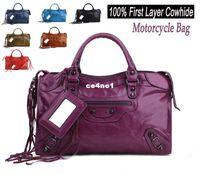Wholesale Hihg Quality Fashion Celebrity Style Motorcycle Bag Designer Brand Vintage Large Cowhide Handbag Genuine Leather Bags for Women