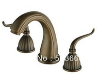 Wholesale Newly Free Ship Antique Classic Style B S Tap Brass Mixer Deck Mounted Faucet CM0392 Mixer Tap Faucet