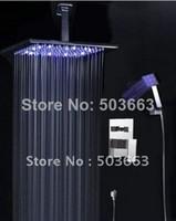 Wholesale 16 quot LED Shower Head Rain Shower Complete Shower Faucet TR4375346