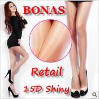 Women Bodysuit Tight BONAS Brands,15D Shiny Tights Shiny Ultra-Thin Sexy Pantyhose,Free Shipping