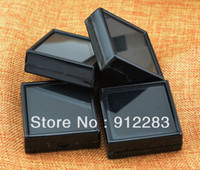 Wholesale Black Earring Studs Pendant Jewelry Bead Trinket Plastic Case Box Showcase Tray Gift Box x2 quot