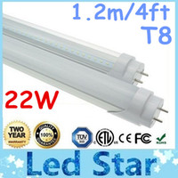 T8 22w SMD3014 CE ROHS FCC + 4ft 1.2m T8 Led Tubes Lights 20W 1900lm SMD 2835 Led Fluorescent Tube Lamp Frosted transparent Cover Warm Cool White 85-265V