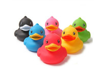 Unisex age Movie & TV 6PCS lot Fashion rubber duck 6cm colorful Bath toys series PVC Action Figures 2014 NEW Anime Dolls Classic Toys Free Shipping
