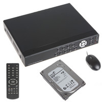 Wholesale 4 Channel H Audio Video DVR System with GB Hard Disk Remote Control Alarm amp Button