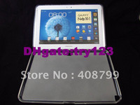 7'' For Samsung For Ipad 2/3 Free Shipping DHL Fedex,Clear Pudding Soft TPU Siliicon Gel Resin Cover Case for Samsung Galaxy Note 10.1 N8000