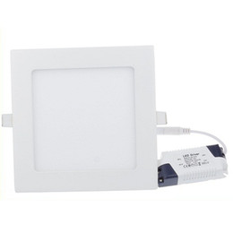Wholesale Newest Ultra thin Led Downlights W W W W W Dimmable Led Recessed Lamp Panel Light Warm Natural Cool White V Including Driver
