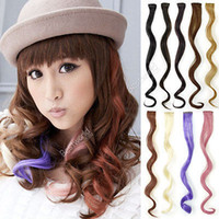 Wholesale 9x Fashion Hot Women Highlight Curly Wavy Clip In Party Hair Extensions Colors
