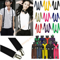 Wholesale Holiday Sale Men Women s Unisex Colors Clip on Suspenders Elastic Y Shape Adjustable Braces