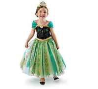 TuTu Summer Pleated Frozen Elsa Costume Custom Size For Kids Princess Dress Sequined Cosplay Costume Free Shipping girl dresses