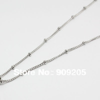 Celtic beautiful lockets - CM Beautiful Stainless Steel Beaded Chain for Floating Locket Pieces L005