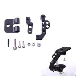 Wholesale CNC Aluminum Alloy FPV Monitor Mounting Bracket Vertical for DJI Transmitter Quadcopter FPV Black RM566B
