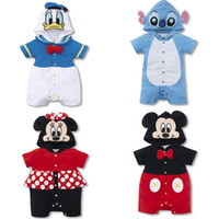 Wholesale cotton worsted Mickey Minnie bodysuit sleeved hooded jumpsuit hot selling online L45