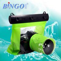 Wholesale 5 Colors Bingo M Digital Camera Waterproof Bag Underwater Diving Floating Housing Mask Case Pouch for Canon Nikon Sony DSLR SLR D1133