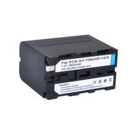 Wholesale New mAh NP F960 NP F970 Batteries for NP F930 F950 F330 F550 F570 F750 F770 SONY Digital Camera Battery D1218