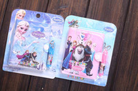 Wholesale Box New Popular Frozen Elsa Anna Children With The Point Pen Notebook Stationery Fashion Student Gift