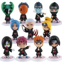 Wholesale set Japanese anime Naruto AKATSUKI organization all members Q version PVC figure