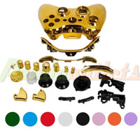 Wholesale Game Wireless Controller Full Housing Shell Case for Xbox console Plating Gold sku Retail