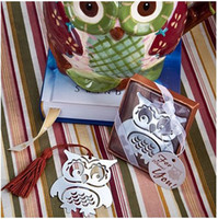 Wholesale New arrival quot owl always love you quot metal owl bookmark wedding favors and gifts baby shower souvenirs