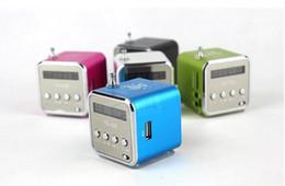 Wholesale Portable Mini Speaker TD V26 Micro SD TF Card USB Disk MP3 Music Player Amplifier FM Radio digital speaker LCD display